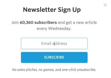 good subscription forms