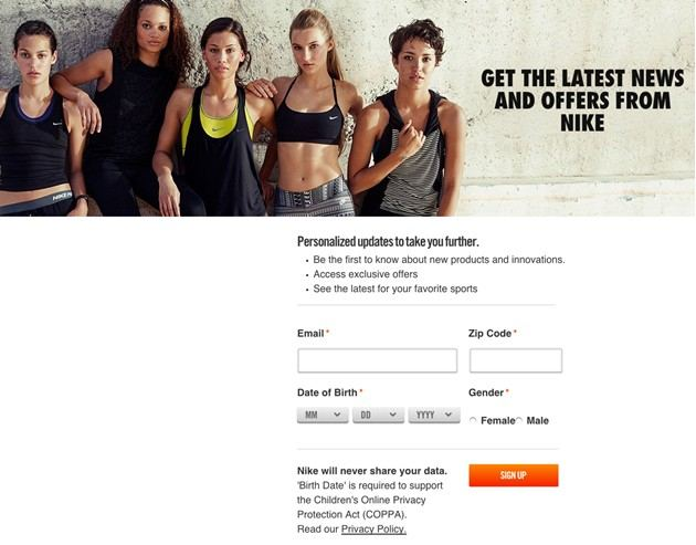 nike subscription form
